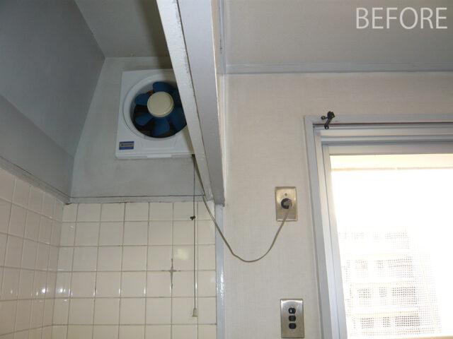 壁付け水栓の配管を隠す工夫しました。