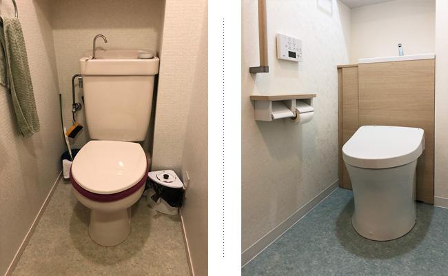 見た目スッキリ!収納力アップのトイレ