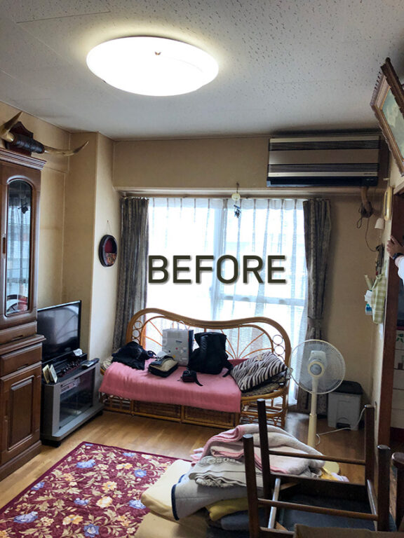 間取り変更でリビングを広く!快適な住まいにリフォーム。